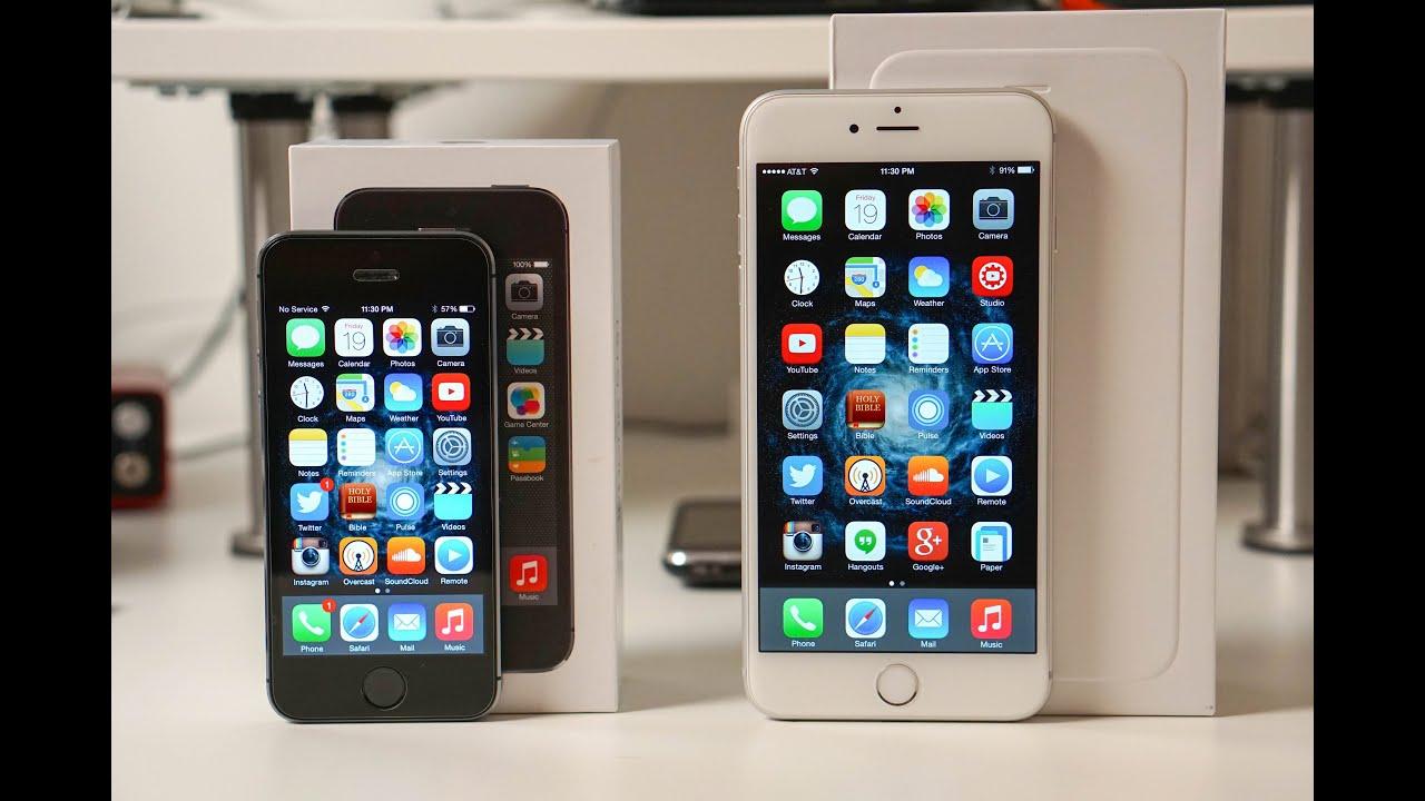 Iphone 6 Plus Vs Iphone 5s Speed Test Youtube