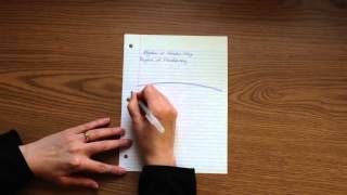 Why You Tilt Your Paper When Writing
