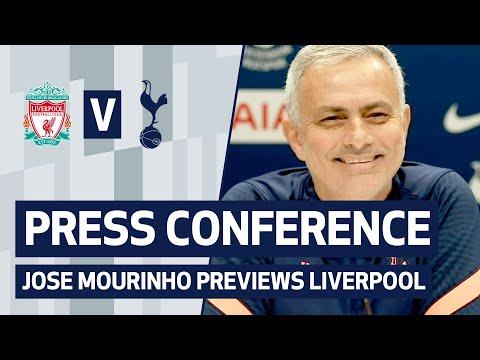 PRESS CONFERENCE   JOSE MOURINHO PREVIEWS LIVERPOOL