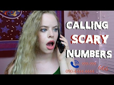 CALLING SCARY NUMBERS!! *SOMEONE ANSWERED OMG* - YouTube