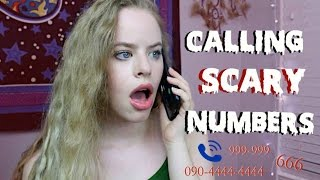 CALLING SCARY NUMBERS!! *SOMEONE ANSWERED OMG*