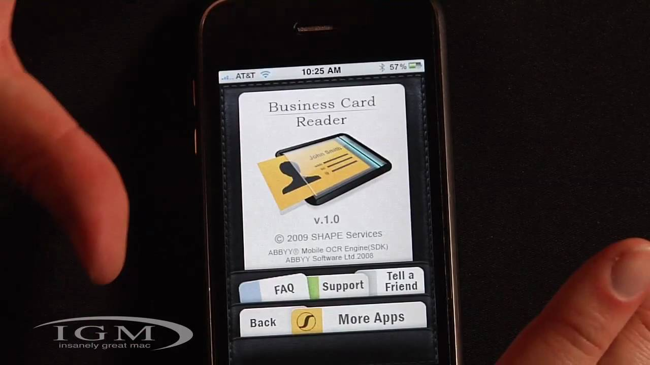 Business Card Reader -- App Scans Cards into iPhone\'s Address Book ...