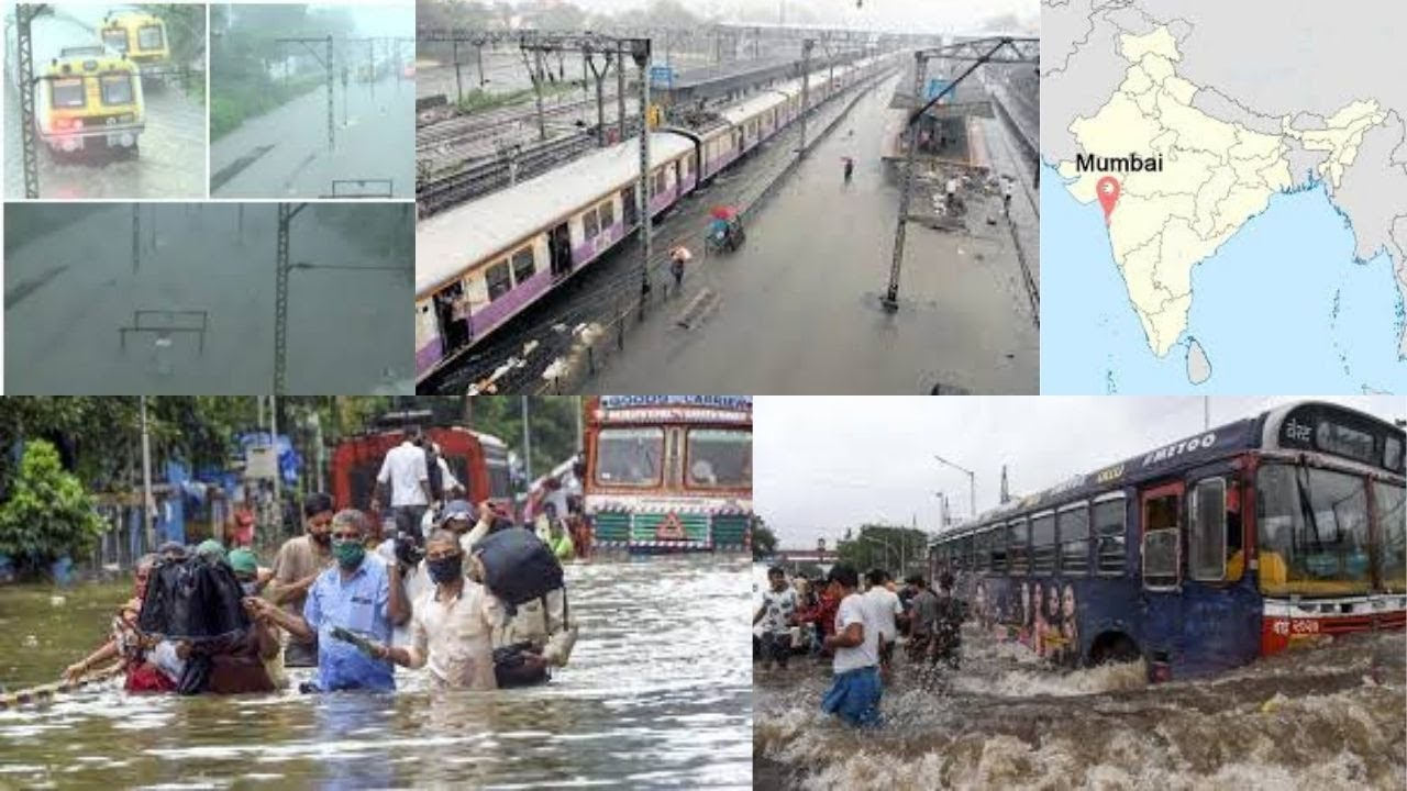 Railway tracks submerge in Mumbai due to heavy rains, train services suspended