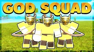 Fighting the Server's Strongest God Tribe *PvP* (Roblox Booga Booga)