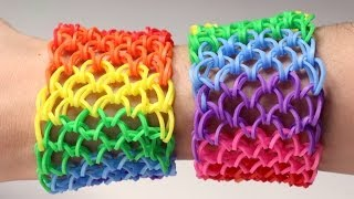 Repeat youtube video Rainbow Loom Nederlands - Dragon Scale || Loom bands, rainbow loom, nederlands, tutorial, how to