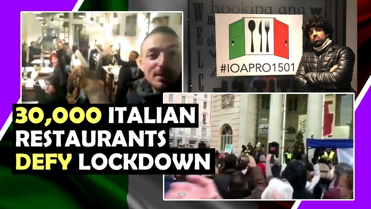 30,000 Italian Restaurants Defy Lockdown Rules / Hugo talks #lockdown