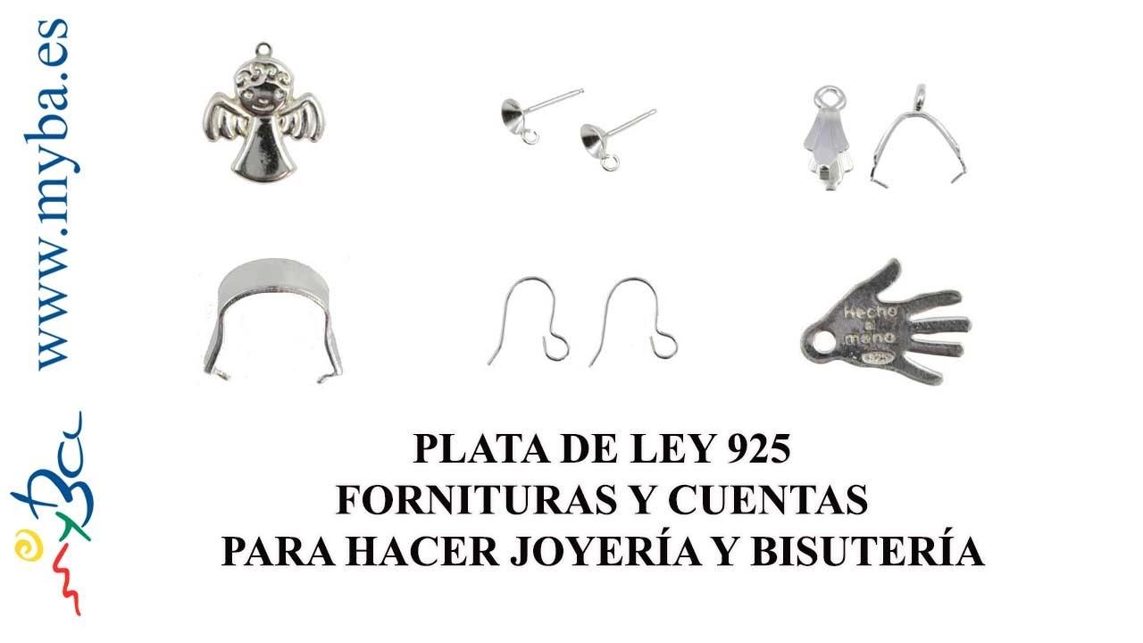 3d8907b7aae7 Fornituras de plata de ley fabricadas en Europa para bisutería.