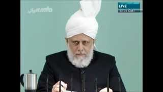 Friday Sermon 2012 03 30 - Office-Holders Need to Set an Example ....