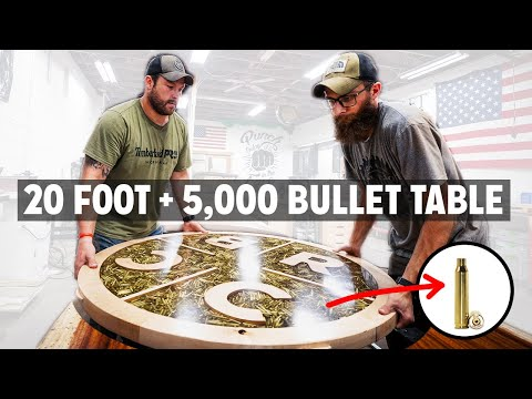 HUGE Bullets in Epoxy Table Build! Black Rifle Coffee Conference Table