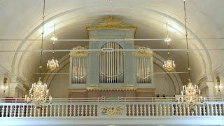 Johannes Brahms. O Welt Ich muss dich lassen spelad på läktarorgeln i Arnäs kyrka.