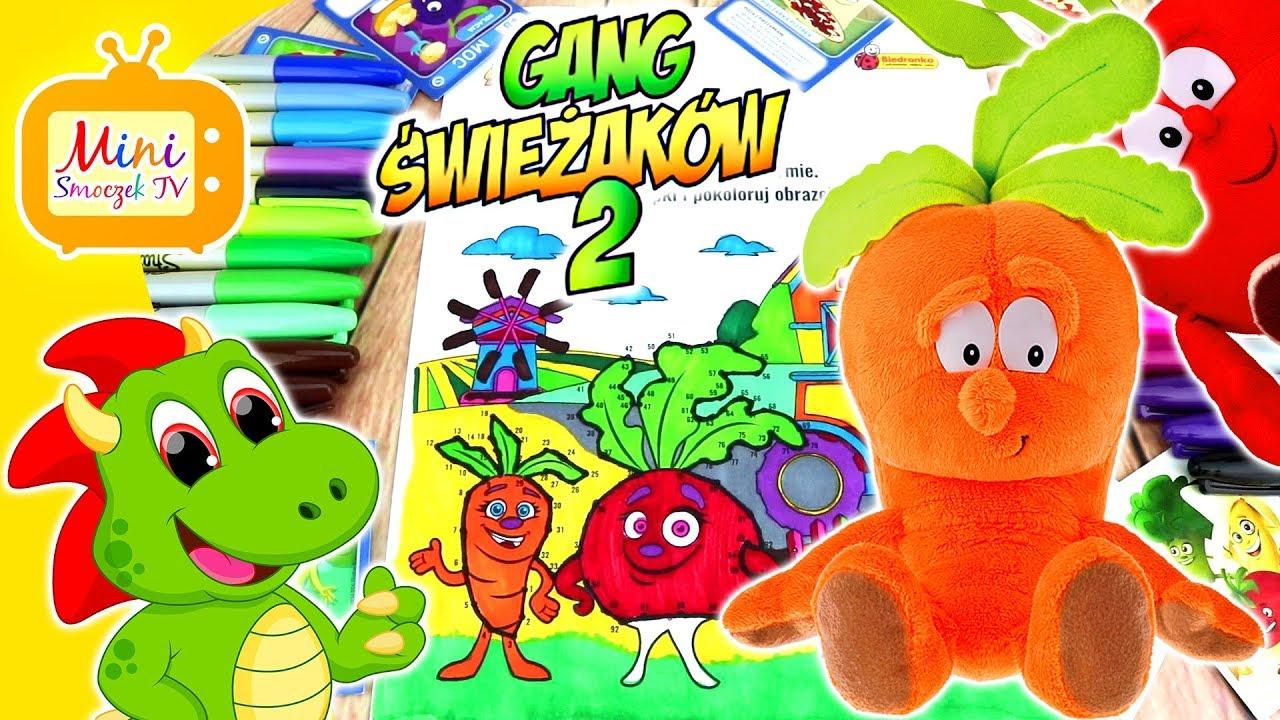 Gang Swiezakow 2 Na Farmie Nauka Kolorow Kolorowanka Swiezaki Z Biedronki Filmik Dla Dzieci Youtube
