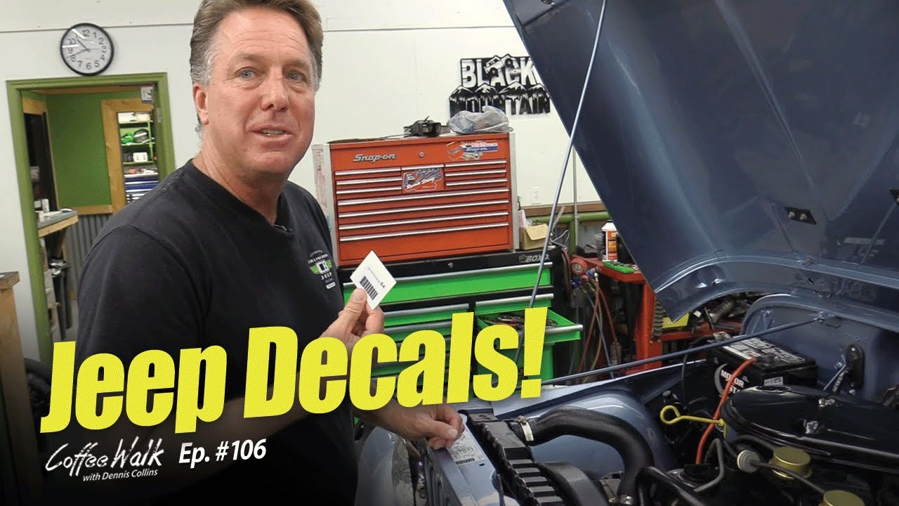 Coffee Walk Ep. 106: DECAL PLACEMENT on a JEEP CJ (How-To)