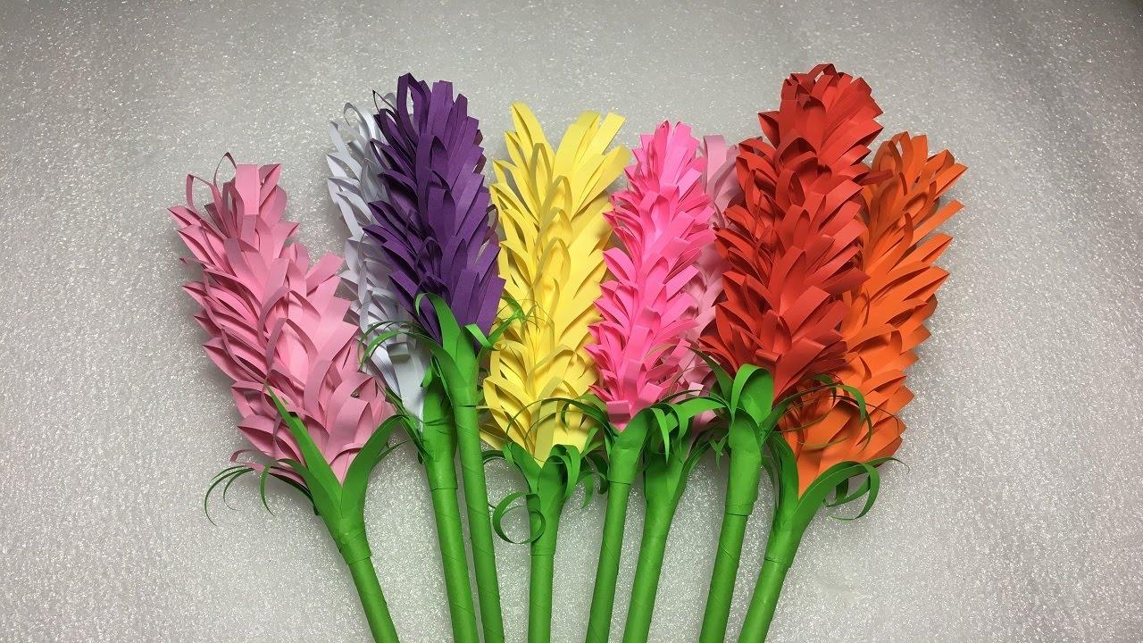 How To Make Easy Lavender Flower Origami Paper Tutorials Diy Paper Craft Lavender Origami
