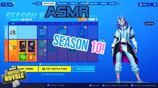 ASMR Gaming | Fortnite Season 10 Battle Pass Thoughts and Impressions 🎮🎧Relaxing Whispering😴💤