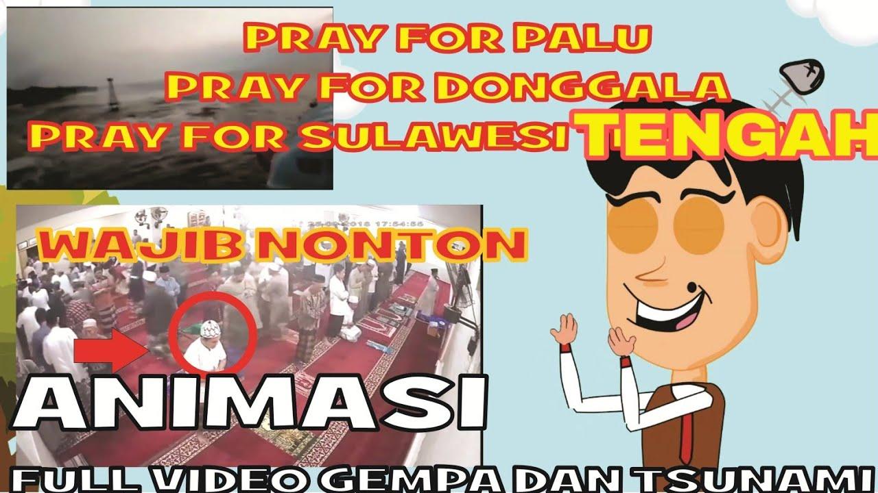 Animasi Kartun Pray For PALU Dan Donggala Sulawesi Tengah