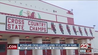 McFarland cross country team loses state title after 24 years