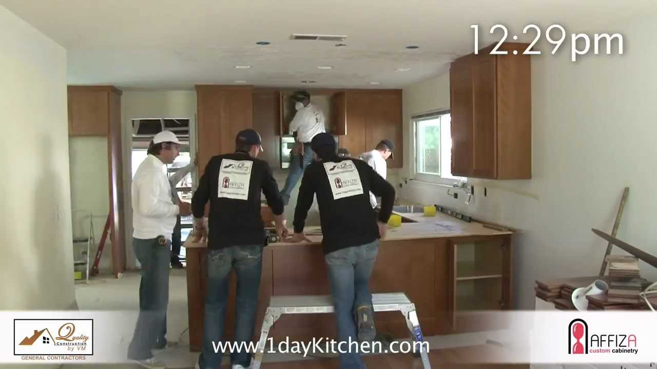 Complete Kitchen Remodel In 1 Day   YouTube