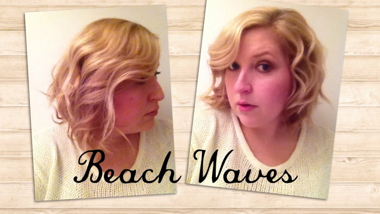 beach waves frisuren f r mittellanges haar youtube. Black Bedroom Furniture Sets. Home Design Ideas