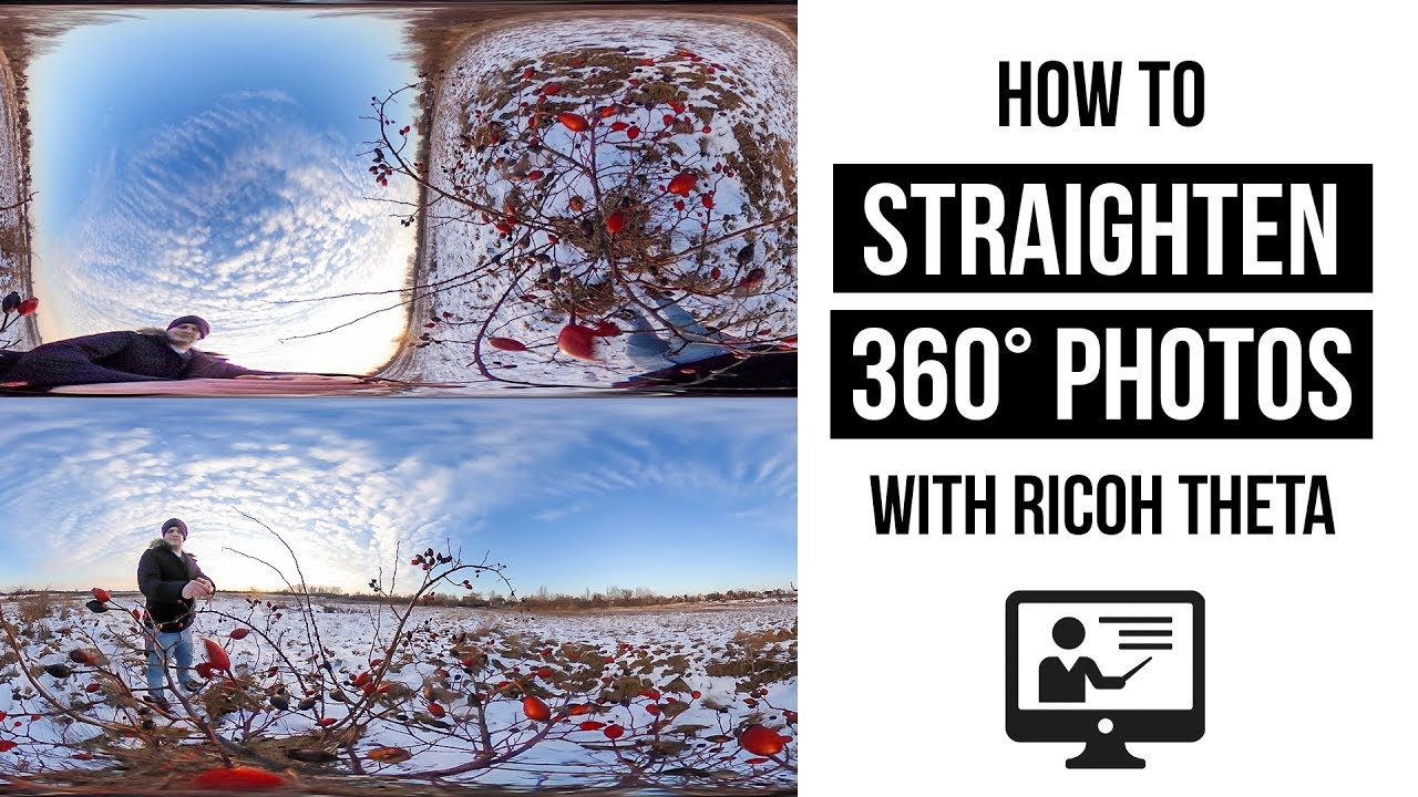 How to straighten panorama horizons of Ricoh Theta photos without  third-party applications | Gaba_VR