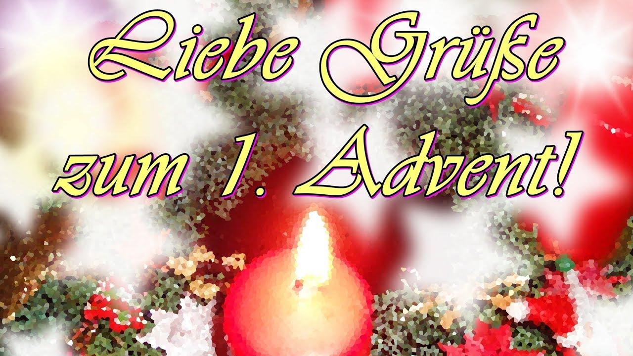 Adventsgrüße Zum 1 Advent Lieber Gruß Für Dich Mit Vielen Wünschen