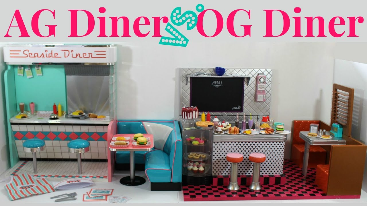 American girl doll diner vs our generation doll diner youtube