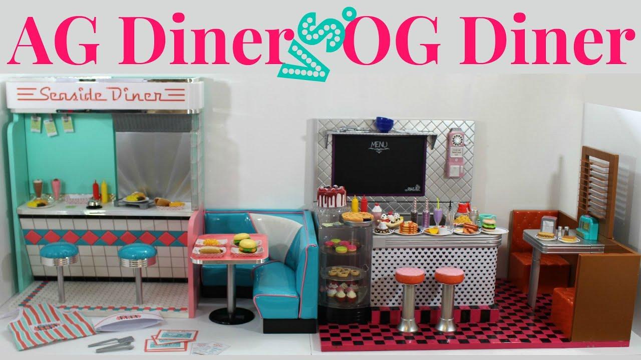 American Girl Doll Diner vs Our Generation Doll Diner