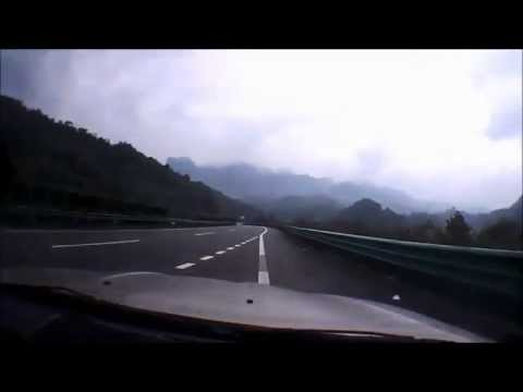 Driving from Chongqing to Shandong China 64x speed dashcam video)
