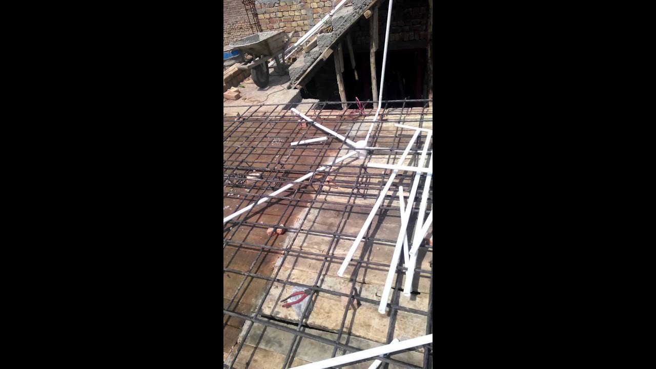 Rcc Construction House : My home construction rcc roof filling youtube