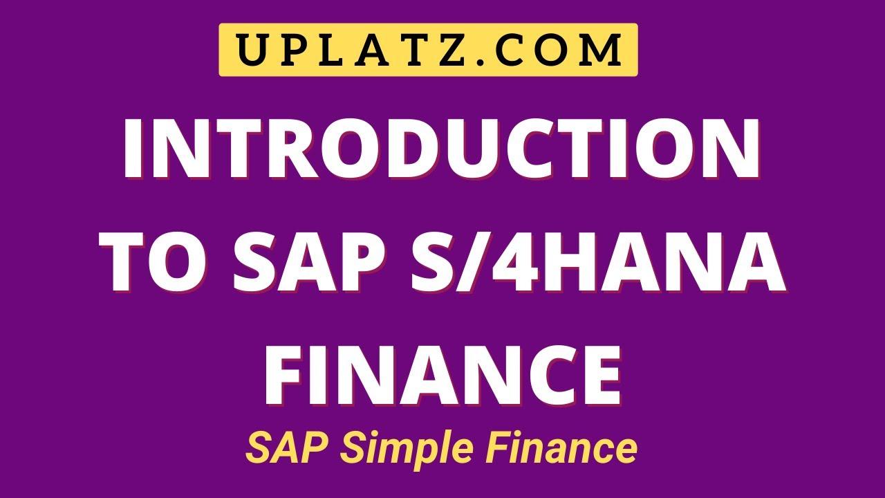 SAP S/4HANA Finance 1809 Training and Certification | SAP S