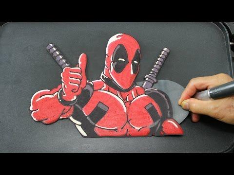 HUGE Deadpool PANCAKE - Superhero in Real Life