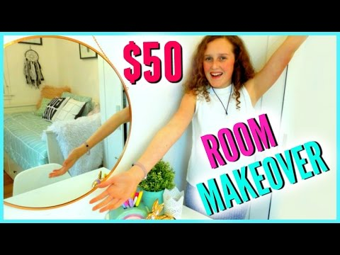 $50 ROOM MAKEOVER  - Quick And Cheap Plus ROOM TOUR!