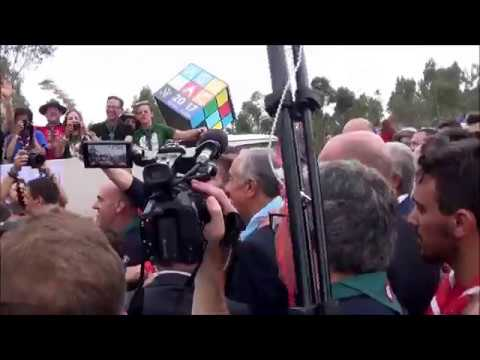 XXIII ACANAC - Presidente da República com os escuteiros.