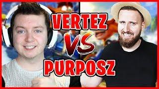 VERTEZ vs PURPOSZ! | KTO BĘDZIE MISTRZEM KIEROWNICY?! | Crash Team Racing Nitro-Fueled #01