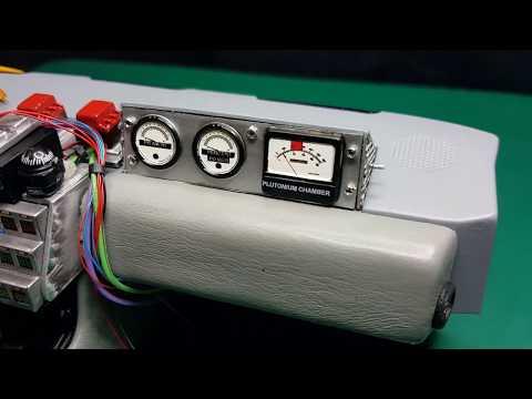 Eaglemoss Build The Back To The Future Delorean plutonium gauges custom mod