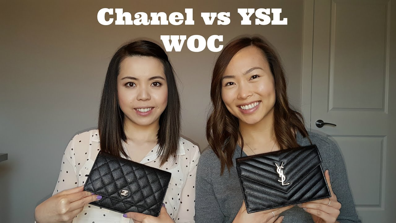 What S In Our Bags Chanel Woc Vs Ysl Woc Youtube