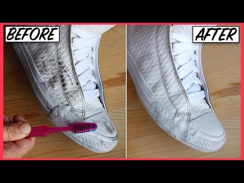 How to CLEAN LEATHER & SUEDE SNEAKERS FAST | Easy Hacks to Restore & Whiten Yellow Sole Stains