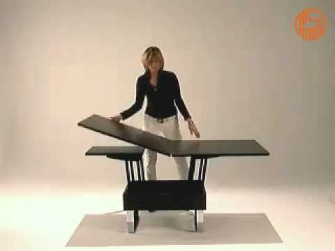 Giove - Tavolino trasformabile in tavolo da pranzo e contenitore porta ...