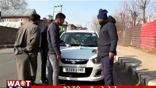KULGAM TRAFFIC POLICE AGAINST TRAFFIC RULES VOILATERS