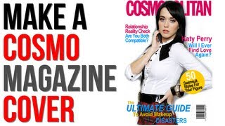 "Gimp Tutorial; Make Cosmopolitan Magazine Cover, Part2 ""The ByLine"""