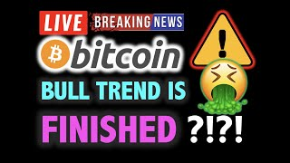 BITCOIN DUMPING! 🚨Bull Trend is FINISHED?! ❗️LIVE Crypto Analysis TA & BTC Cryptocurrency Price News
