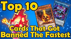Top 10 Cards That Got Banned The Fastest in YuGiOh