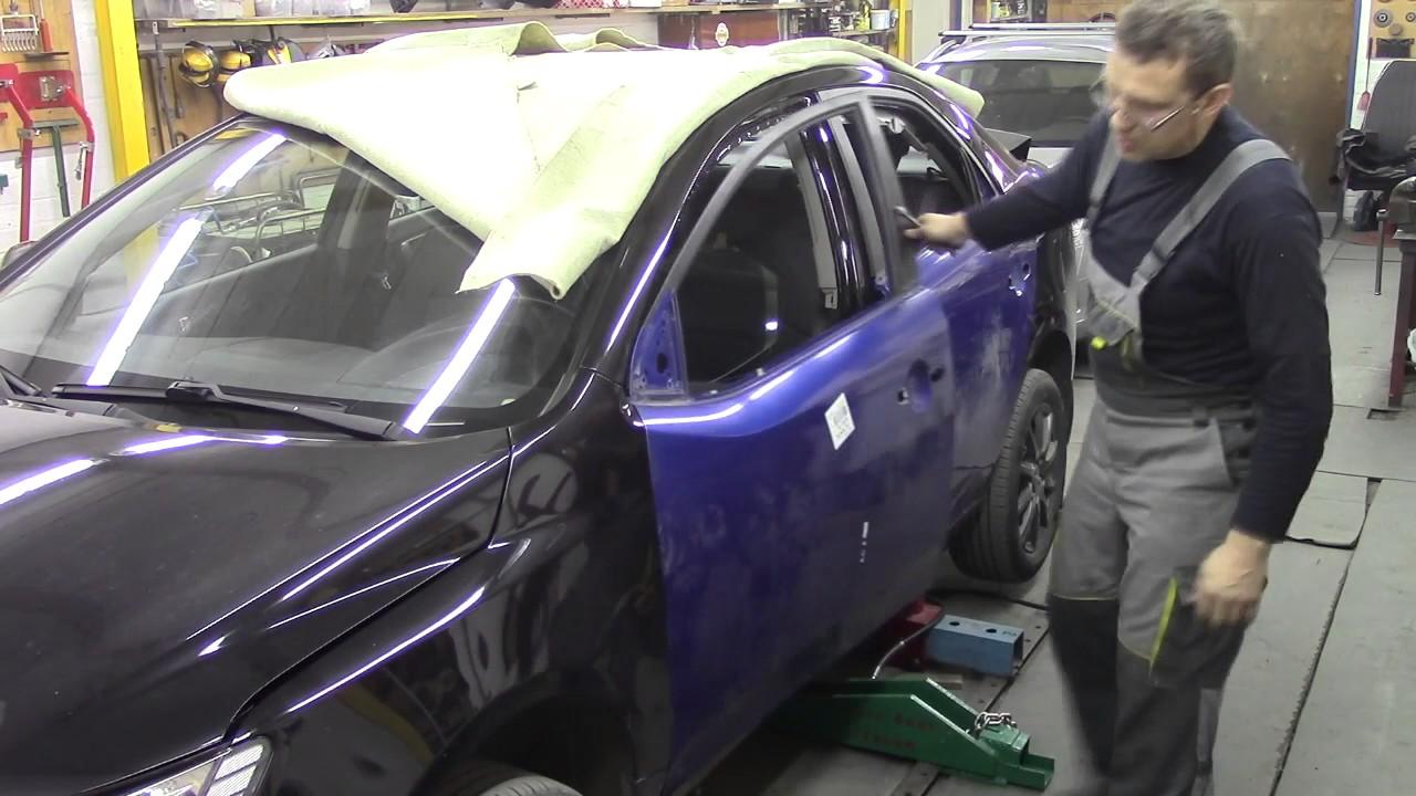 Кузовной ремонт. Киа Церато, боковой удар. Body repair.