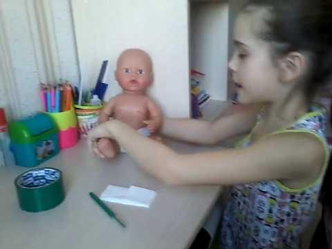 Как сделать памперс для куклы своими руками