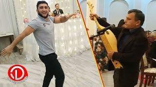 Мужчина Великолепно Играет На Дамбур а Джигиты Зажигают Лезгинку На Свадьбе в Закатале