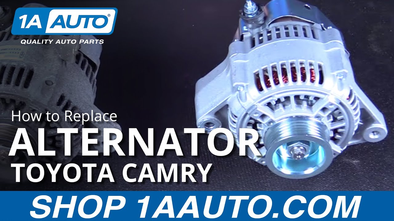 hight resolution of how to replace install new alternator 97 01 toyota camry
