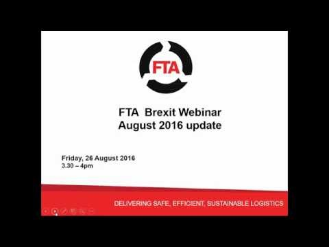 Brexit - what are the implications for logistics - August update