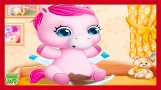 Cutest Pink Baby Pony Stinky Diaper Change - Baby Ponies for Kids By TutoTOONS