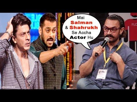 Aamir Khan's SHOCKING Statement On Being More Successful Than Shah Rukh Khan And Salman Khan