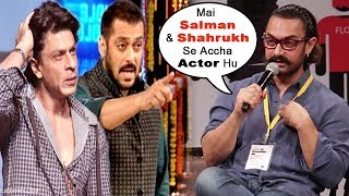 Aamir Khan's SHOCKING Statement On Being More Successful Than Shah Rukh Khan And Salman Khan