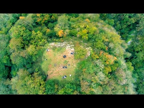 Ebbor gorge from above, Somerset, England, Autumn colours 2015